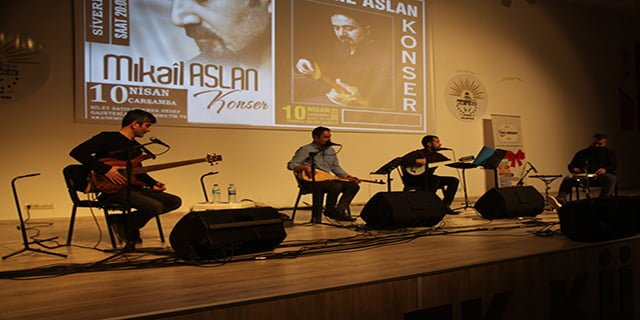 Mikail Aslan konser verdi
