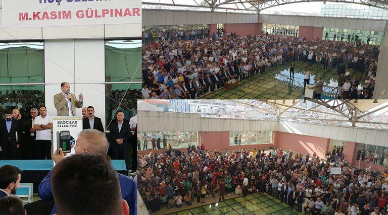 Gülpınar'ın destek toplantısına binlerce kişi katıldı