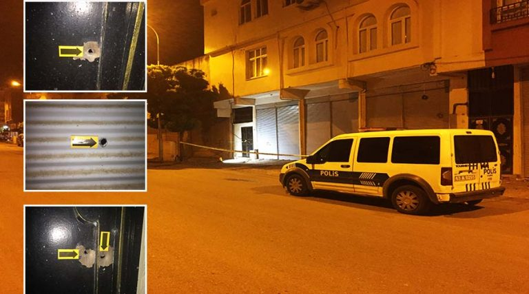 Eve gece saatlerinde silahlı saldırı
