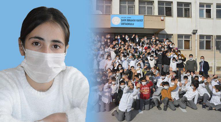 Lösemili öğrenciye destek için tüm okul maske taktı