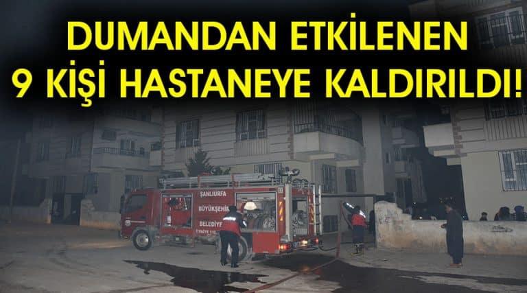 Bir binada çıkan yangında 9 kişi dumandan etkilendi