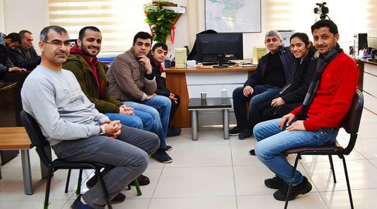 Özel öğrencilerden gazetecilere ziyaret
