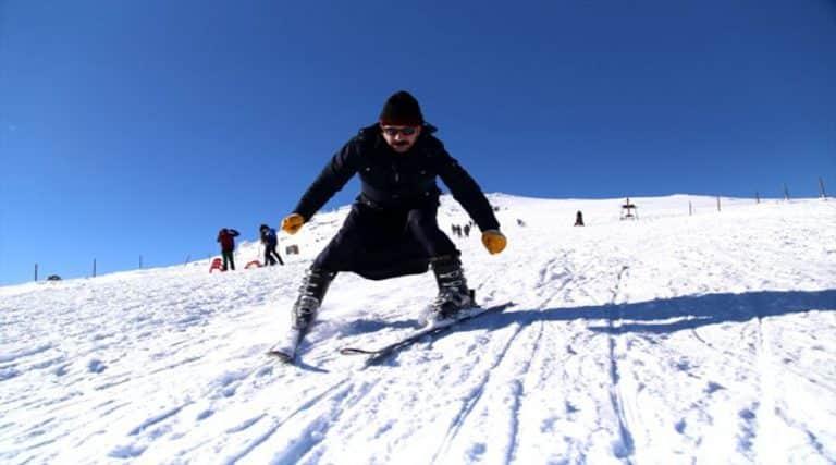 Karacadağ kayak sezonuna 'merhaba' dedi