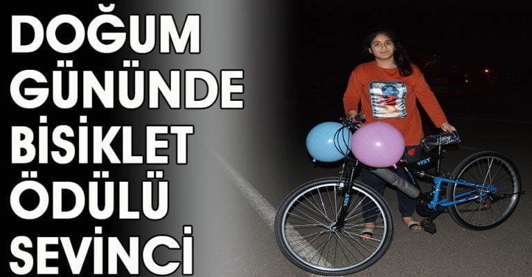Bisikletleri gören çocukların sevinci görülmeye değerdi