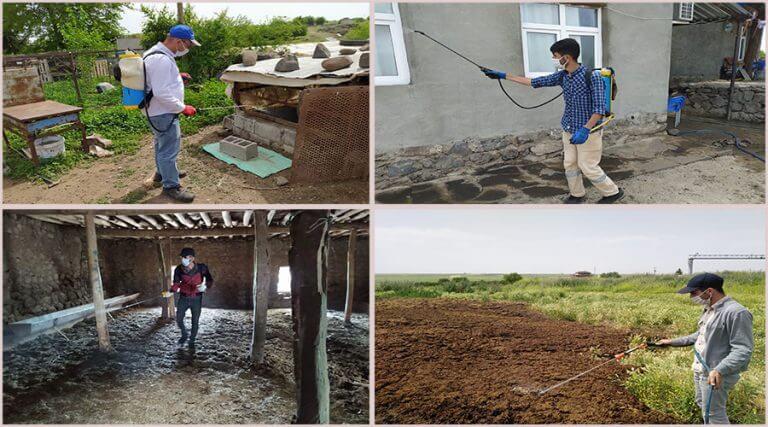 Kırsal mahallelerde ilaçlama çalışmalarına başlandı