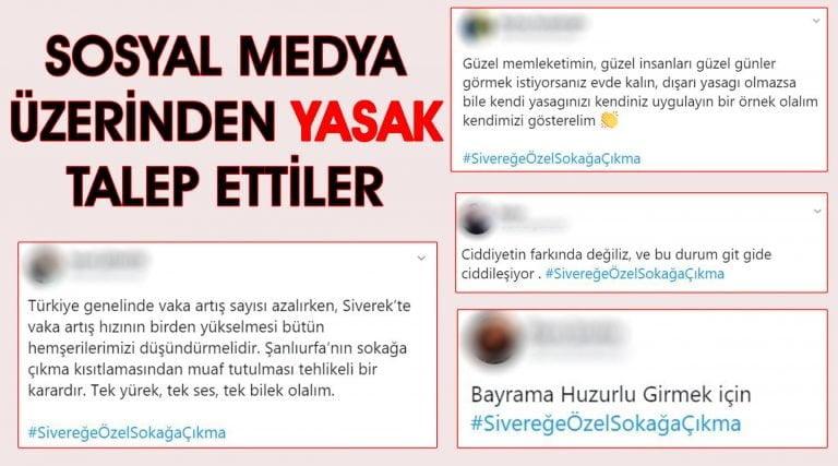 Sosyal medya üzerinden yasak talep ettiler