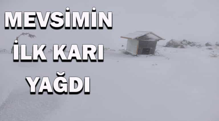 Bölgenin 'Uludağ'ına yılın ilk karı yağdı
