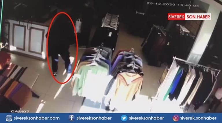 Hırsızlık anları güvenlik kamerasına yansıdı!