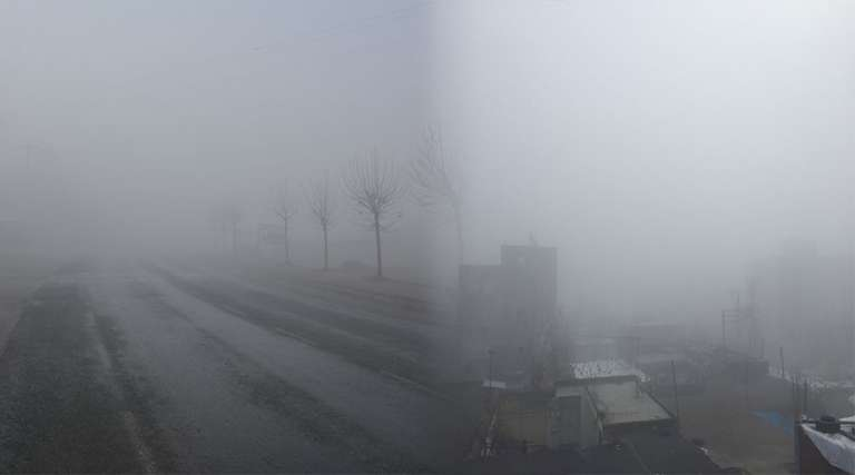 Etkili olan sis görüş mesafesini düşürdü