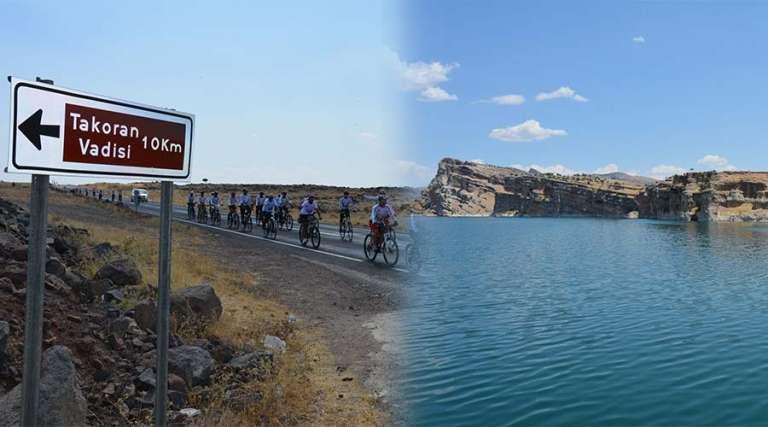 Bisikletçiler, Takoran Vadisi'ne hayran kaldı