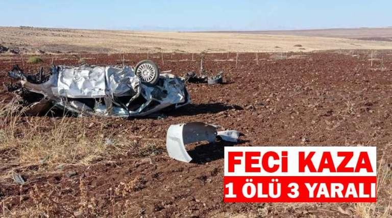Otomobil şarampole devrildi: 1 ölü 3 yaralı